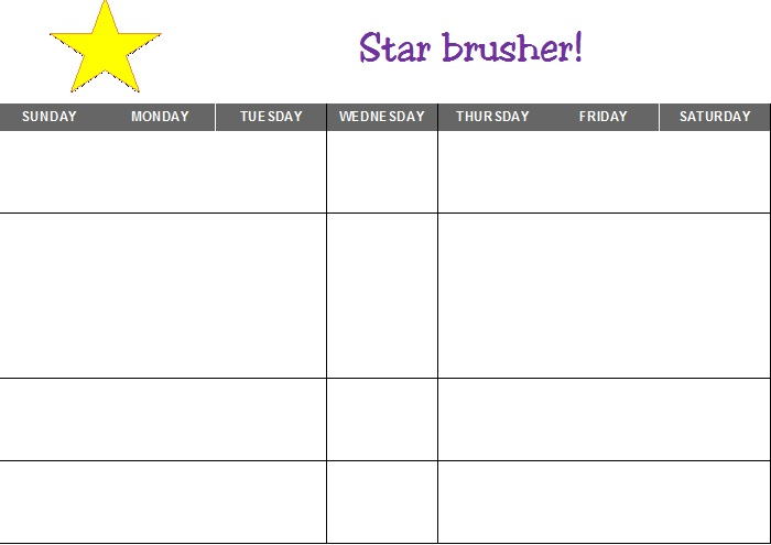 CALENDAR STAR BRUSHER