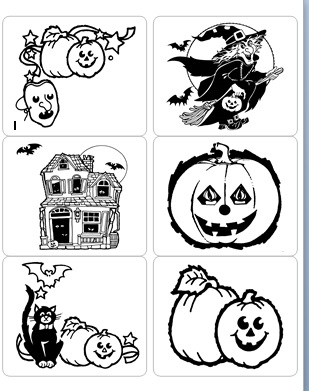 Halloween Color-Your-Own Stickers
