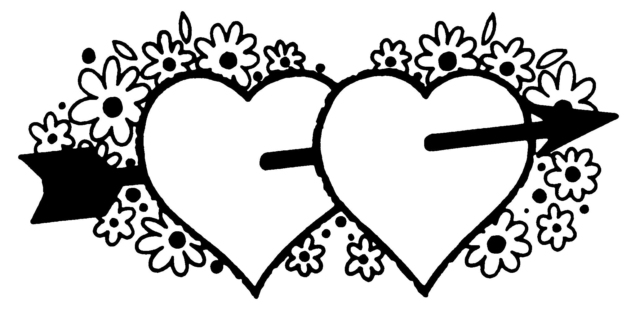 Valentine Clip Art Black And White Free Related Keywords ...