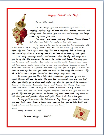 VALENTINE'S LETTER FOR A CHILD--HUMOROUS DEVIL height=
